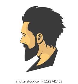 Man beard illustrated desogn