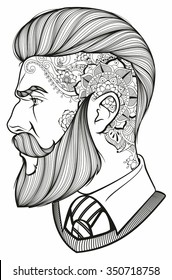 tattoo hipster man images stock photos  vectors
