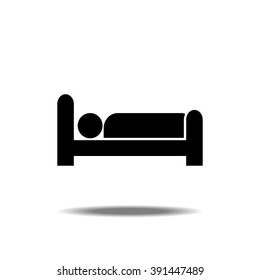 Man In Bed Icon Vector Illustration