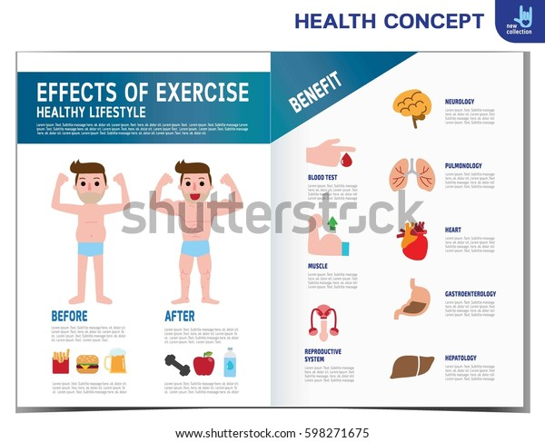 Man Before After Effects Exercise Infographic Stock Vector (Royalty
