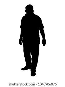 The man with the belly silhouette vector