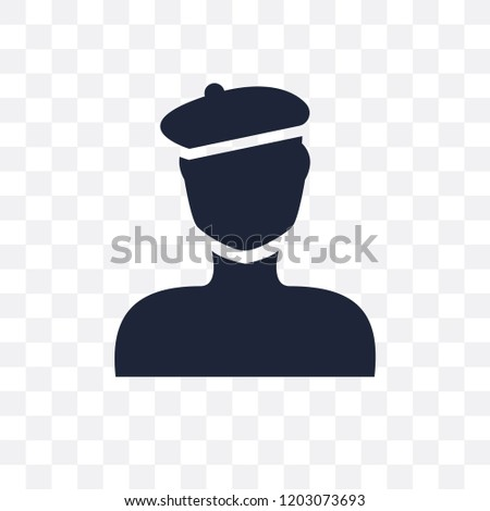 b0953e0842796 Man with beret transparent icon. Man with beret symbol design from People  collection. Simple element vector illustration on transparent background. -  Vector