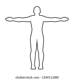 Man body silhouette. Isolated vector.