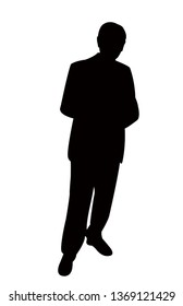 a man body silhouette vector