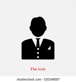 man in business icon, vector best flat icon, EPS
