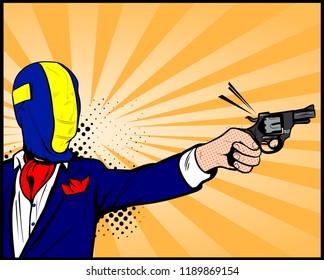 Cartoon of Man with Gun to Head Images, Stock Photos & Vectors