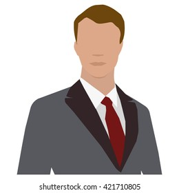 man in business suit man profile avatar icon