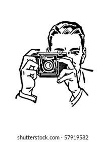 Man With Camera - Retro Clip Art