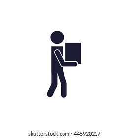 man carrying box icon