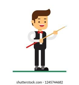 Man character avatar icon.billiards pool snooker