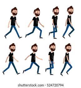 Man character for your scenes.Character ready for animation. Animation walking man.