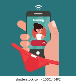 Man cheating on his wife - Reject an incoming call from your darling because was with another girl