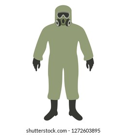 man in chemical-protection suit ,vector illustration , flat style