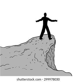 man in cliff
