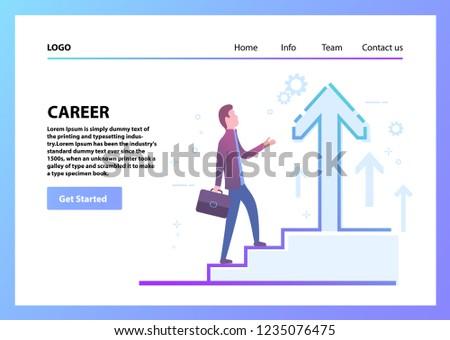 man climbing career ladder concept business stock vector royalty