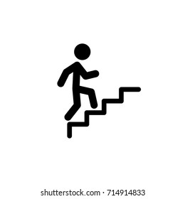 Man climbs the stairs Icon