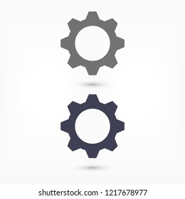 Man and cog  vector icon