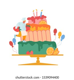 Admirable Giant Birthday Cake Images Stock Photos Vectors Shutterstock Funny Birthday Cards Online Aboleapandamsfinfo