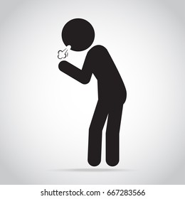 Man Coughing icon. Medical concept illustration