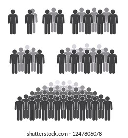 Man crowd figures on white background for graphic and web design, Modern simple vector sign. Internet concept. Trendy symbol for website design web button or mobile app