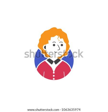 Man Curly Orange Blonde Hair Confident Stock Vector Royalty Free