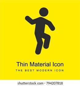 Man Dancing bright yellow material minimal icon or logo design
