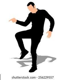 Man dancing, vector