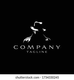 The man of detective logo design icon. The man of detective line art design. The man of detective icon design. The man of detective design inspiration