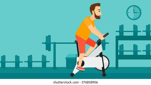 Man doing cycling exercise.