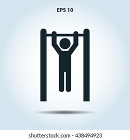 man doing pull ups icon
