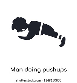 Man doing pushups icon vector isolated on white background for your web and mobile app design, Man doing pushups logo concept