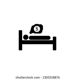 Man dream money icon. Rich Dream vector toolbar icon for software design. Style is a flat icon symbol on a white background.vector icon