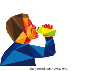 Man Is Drinking Drink
