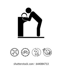 Man at Drinking Fountain Icon