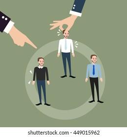 man employee hand pick replacing position rolling rotation mutation