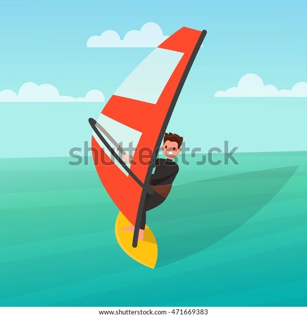 Image Vectorielle De Stock De L Homme Est Engage Dans La Planche 471669383