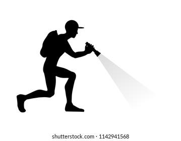 man explorating icon