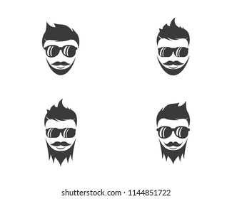 Man face character symbol illustration
