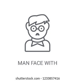 Man face with glasses and goatee icon. Trendy Man face with glasses and goatee logo concept on white background from People collection. Suitable for use on web apps, mobile apps and print media.