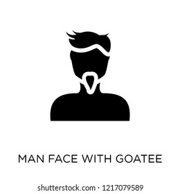 Man face with goatee icon. Man face with goatee symbol design from People collection. Simple element vector illustration on white background.