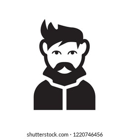 Man face with goatee icon. Trendy Man face with goatee logo concept on white background from People collection. Suitable for use on web apps, mobile apps and print media.