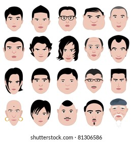 man face shape hairstyle round fat thin old