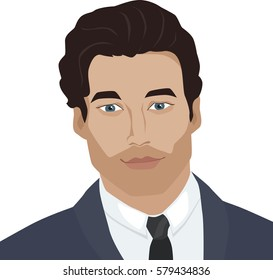 Man face. Vector illustration.