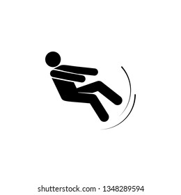 Man, fall, imbalance, person icon. Element of man fall down. Premium quality graphic design icon. Signs and symbols collection icon for websites, web design, mobile app