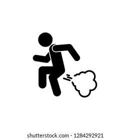 man fart icon. Simple glyph vector of universal set icons for UI and UX, website or mobile application