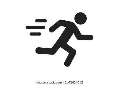 man fast run icon, rush icon vector illustration