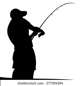 Man with fishing rod.