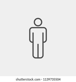 Man flat vector icon. Person flat vector icon