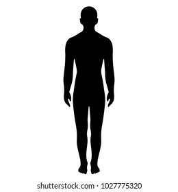 Man full lenght silhouette vector illustration isolated on white background