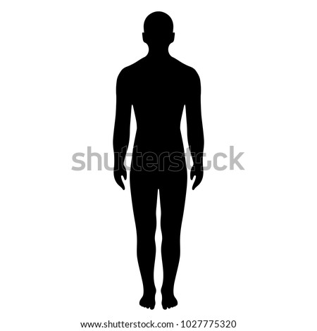 8449dee59 Man full lenght silhouette vector illustration isolated on white background